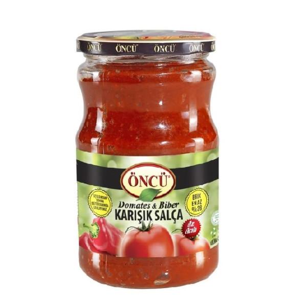 Öncu Domates und Biber Karisik Salca (gemischt) - Paprikatomatenpaste 700 g