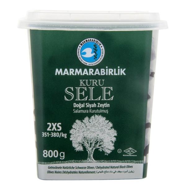 Marmarabirlik Kuru Sele Zeytin - Schwarze Oliven 2XS 800 g