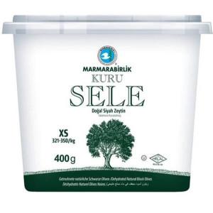 Marmarabirlik Kuru Sele Zeytin - Schwarze Oliven XS 400 g
