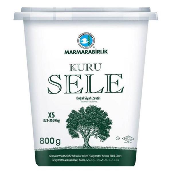 Marmarabirlik Kuru Sele Zeytin - Schwarze Oliven XS 800 g