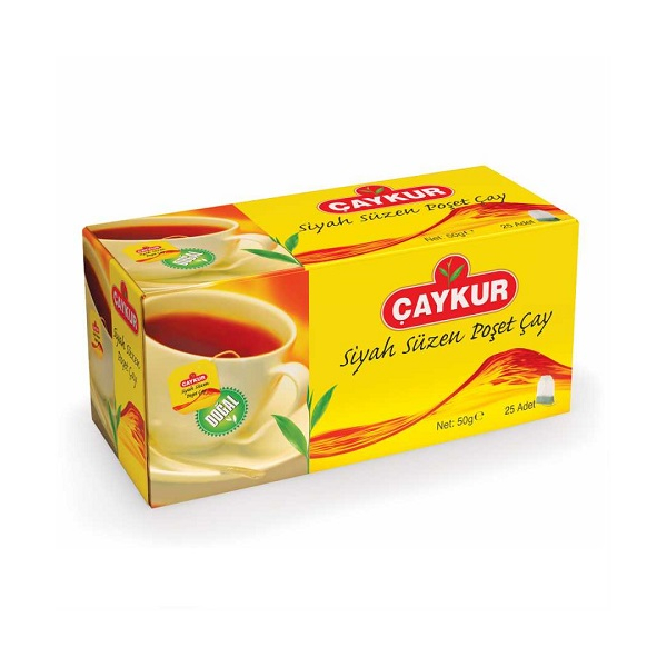 Caykur Siyah Poset Cay - Schwarzer Beuteltee 25 Stück