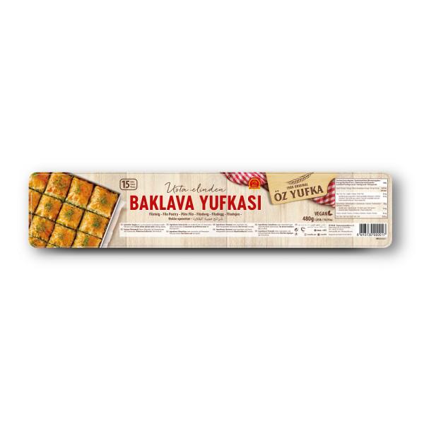 Öz Yufka Baklava Yufkasi - Bakalava Teig Filoteig hauchdünn 15 Stück 480 g