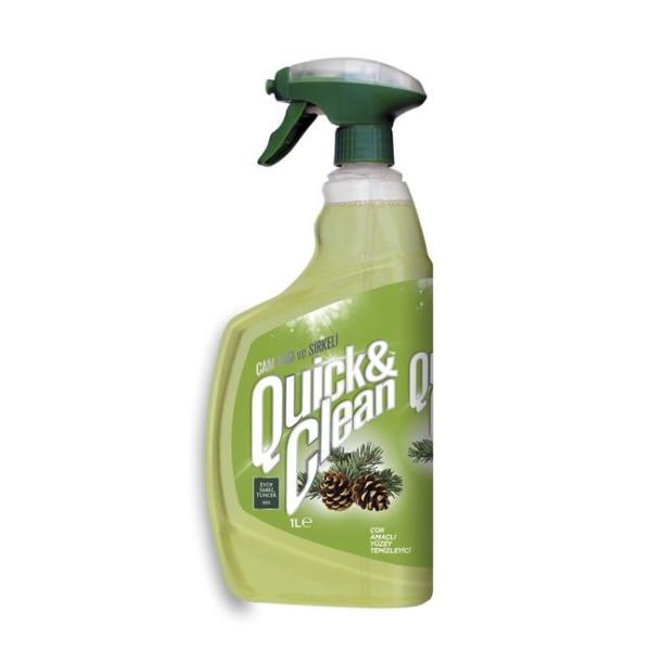 Eyüp Sabri Quick & Clean Cam Yagi & Sirkeli Cok Amacli Yüzey Temizleyici 1 l