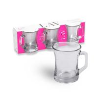 LAV Kupa Cay Bardagi - Teegläser Cappuccino Kaffeetassen Glas 3er Set